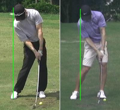 professional golfer impact