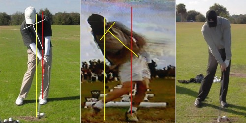 glutes at golf impact position